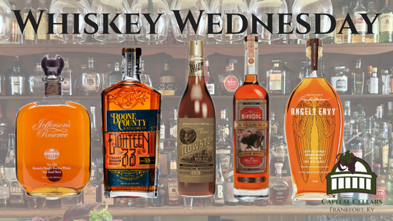 Whiskey Wednesday - Boone County Distillery 10 yr Bourbon Jefferson's Very Old Very Small Batch Bourbon Limestone Branch Distillery Yellowstone 93 Select Bourbon Bird Dog 10yr Bourbon Angel's Envy Port Finished Bourbon