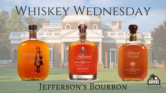 Whiskey Wednesday - Jefferson's Grand Selection Chateau Pichon Baron Cask Finish, Jefferson's Very Small Batch, Jefferson's Reserve Very Old Very Small