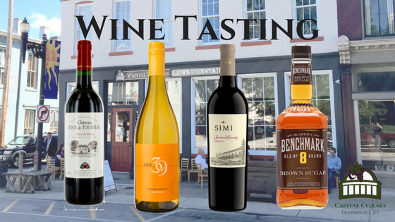 Wine Tasting - Line 39 Chardonnay, SIMI Merlot from Sonoma County, Chateau Tour de Tourteau Cotes du Bourg, Benchmark No. 8 Brown Sugar