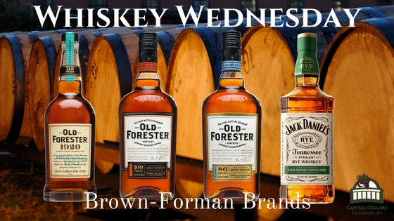Whiskey Wednesday - Old Forester 1920 Prohibition Style, Old Forester Classic 86 proof, Old Forester 100 Proof, Jack Daniels Rye Whiskey